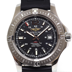 BREITLING Colt Automatic Stainless Steel Rubber Automatic Mens Watch A17388