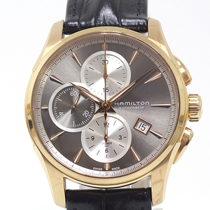HAMILTON Jazzmaster Auto Chrono Steel Leather Automatic Mens Watch H32546781