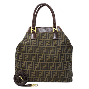 Fendi FENDI Zucca handbag shoulder bag 2way canvas