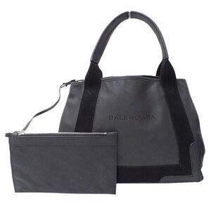 Balenciaga Navy Hippo S Tote Bag Leather