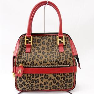 FENDI handbag leopard mini tote bag
