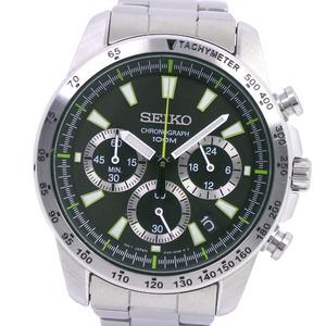 SEIKO Chronograph Steel Quartz Mens Watch 6T63-00D0