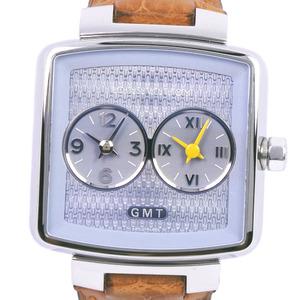 LOUIS VUITTON Sdeedy Duo GMT Steel Leather Quartz Unisex Watch Q2371