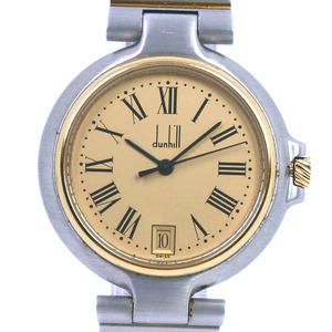 DUNHILL Elite Date Gold Plated Steel Quartz Mens Watch