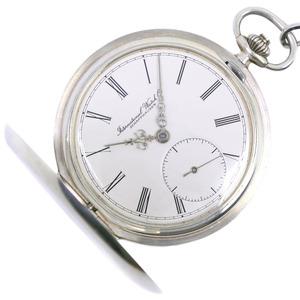 IWC Cal9820 Silver 925 Hand-Winding Pocket Watch 5404