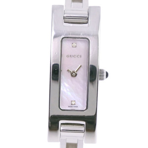 GUCCI Pink MOP Dial Stainless Steel Quartz Ladies Watch 3900L