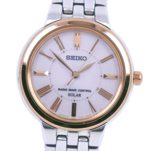 SEIKO Spilit SSDT058 Pink Gold Plated Steel Solar Ladies Watch 3B51-0AS0
