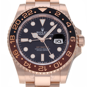 ROLEX GMT Master II 126715CHNR 18K Pink Gold Automatic Mens Watch