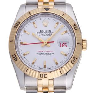 ROLEX Datejust 18K Gold Steel Automatic Mens Watch 116263