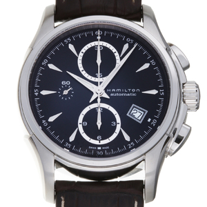 HAMILTON Jazzmaster Stainless Steel Leather Automatic Mens Watch H326160