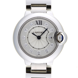 CARTIER Ballon Bleu SM Diamond Steel Quartz Ladies Watch WE902073