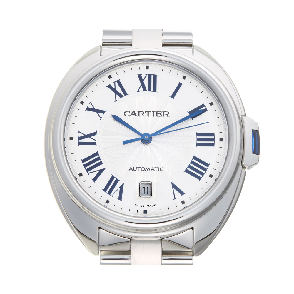 CARTIER Cre de Cartier Stainless Steel Automatic Mens Watch WSCL0007