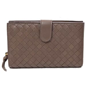 Bottega Veneta Intrecciato Bi-Fold Wallet Brown