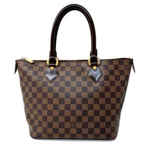 LOUIS VUITTON Louis Vuitton Saleya PM tote bag shoulder ladies handbag gold metal fittings Damier N51183