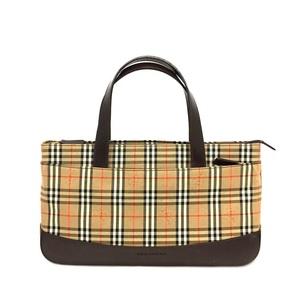 Burberry Handbag Check Canvas Leather BURBERRY Ladies Bag