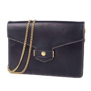 Christian Dior Chain Shoulder Bag Semi Crossbody Ladies Leather