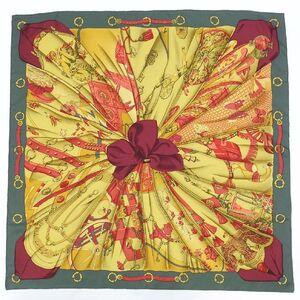 Hermes HERMES Carre 90 Silk Scarf Soleil de Soie