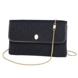 Christian Dior Trotter Shoulder Bag Canvas Leather Ladies