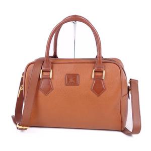 Burberry Burberrys Back Check Leather Ladies Men's 2way Shoulder Bag Handbag
