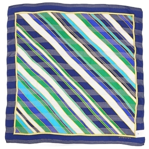 Givenchy GIVENCHY Striped Silk Scarf Ladies Blue