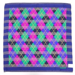 Givenchy GIVENCHY Argyle Silk Scarf Ladies Gold