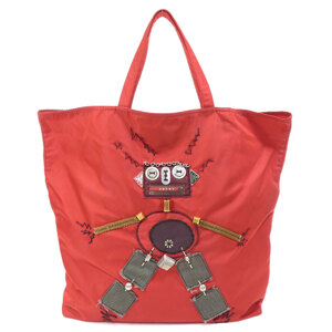 Prada Robot Motif Tote Bag Ladies