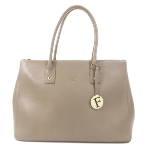 Furla Logo Tote Bag Leather Ladies