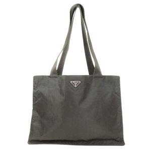 Prada Logo Plate Tote Bag Ladies