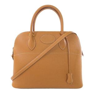 Hermes Bored 35 Gold Hardware Natural Handbag Kushbel Ladies