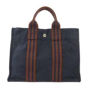 Hermes Sack Fool Toe PM Handbag Canvas Ladies