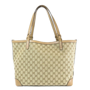 Gucci 247209 GG Pattern Tote Bag Canvas Leather Ladies