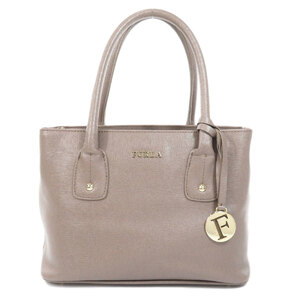 Furla logo motif handbag leather ladies