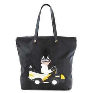 Prada PUNKY Motif Tote Bag Leather Ladies