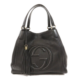Gucci 282309 Soho Tassel Interlocking G Tote Bag Calf Ladies