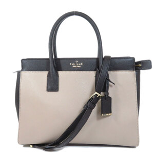 Kate Spade 2WAY Bicolor Handbag Leather Ladies