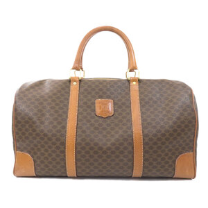 Celine Macadam Boston Bag PVC Leather Unisex