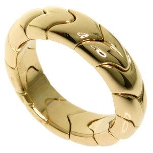 Bvlgari Spiga Ring K18 Yellow Gold Ladies
