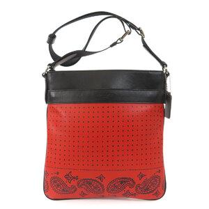Coach F55961 Dot Pattern Paisley Shoulder Bag Leather Ladies
