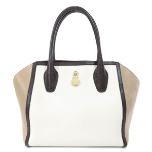 Furla Bicolor Tote Bag Leather Ladies