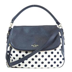 Kate Spade Dot Motif 2WAY Shoulder Bag Leather Canvas Ladies