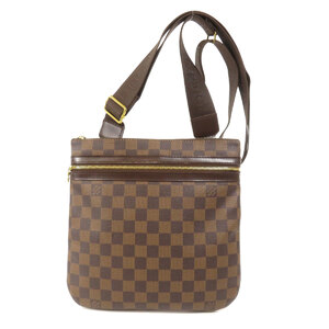 Louis Vuitton N51111 Pochette Boss Fall Damier Ebene Shoulder Bag Canvas Ladies