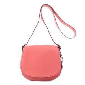 Coach 20115 Logo Charm Shoulder Bag Leather Ladies