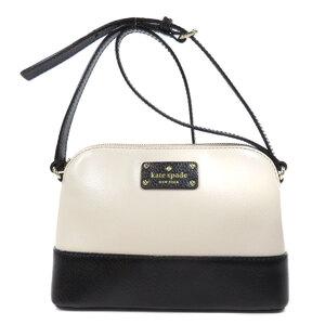 Kate Spade Logo Bicolor Shoulder Bag Leather Ladies