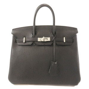 Hermes Birkin 25 Black Togo Handbag Ladies