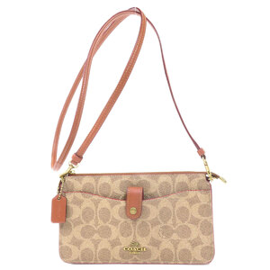 Coach 37458 Signature Shoulder Bag PVC Ladies