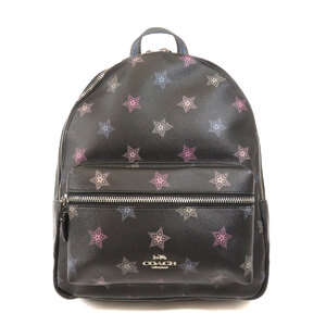 Coach F79964 Star Motif Backpack Daypack Leather PVC Ladies