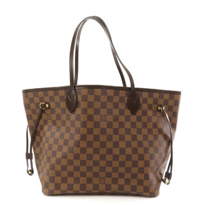 Louis Vuitton N41358 Neverfull MM Damier Ebene Tote Bag Canvas Ladies