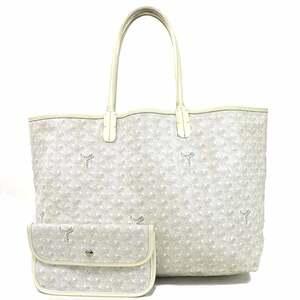 Goyard Shoulder Bag Tote SAINT LOUIS PM BLANK PVC Coated Canvas Leather Women's Men's