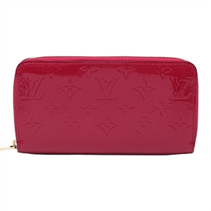 Louis Vuitton Vernis Zippy Wallet Women's Patent Leather Patent Leather Card Wallet Indian Rose