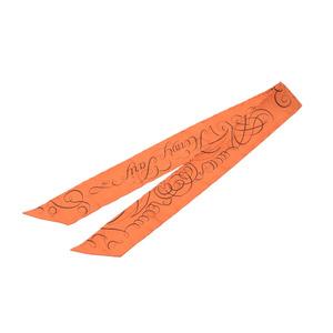 HERMES Hermes Twilly Orange Ladies 100% Silk Scarf
